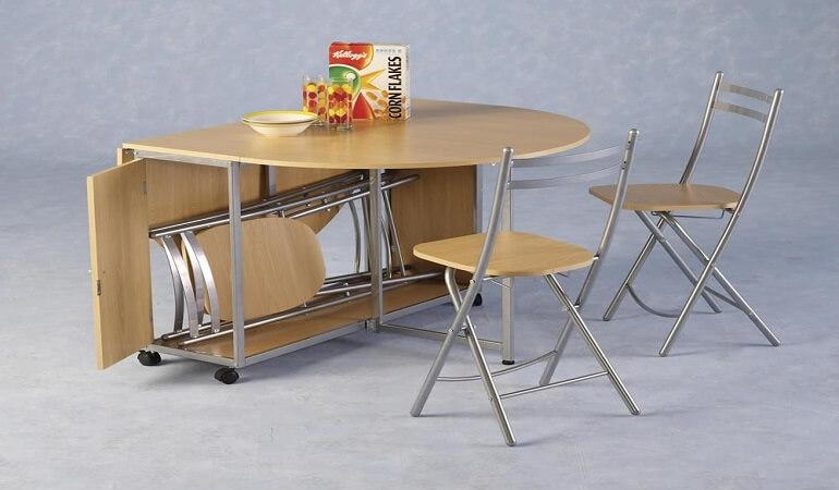 Mẫu bàn ăn gấp gọn sổ 5