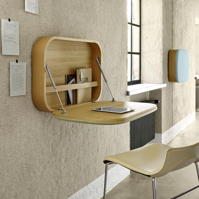 Bàn treo tường làm việc có hộc tủ tiện lợi giúp bạn có thêm thông gian cất chứa đồ dùng