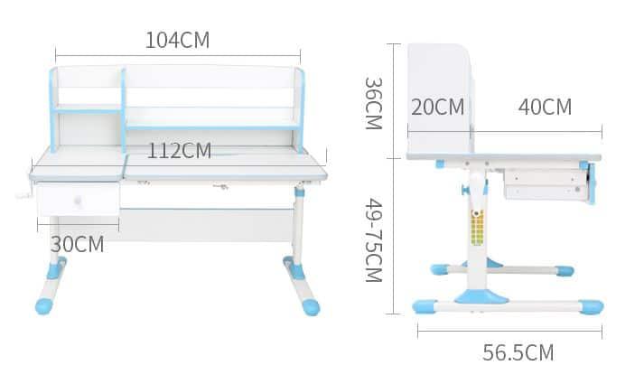 Chân bàn học thông minh Igrow CD106 có thể nâng hạ chiều cao linh hoạt